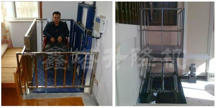 货梯厂家 货梯分类 小型液压货梯 家用小型电梯  家用小型电梯是一种图片