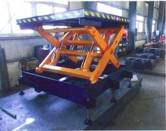 固定剪叉式升降機采用剪叉式升降結構