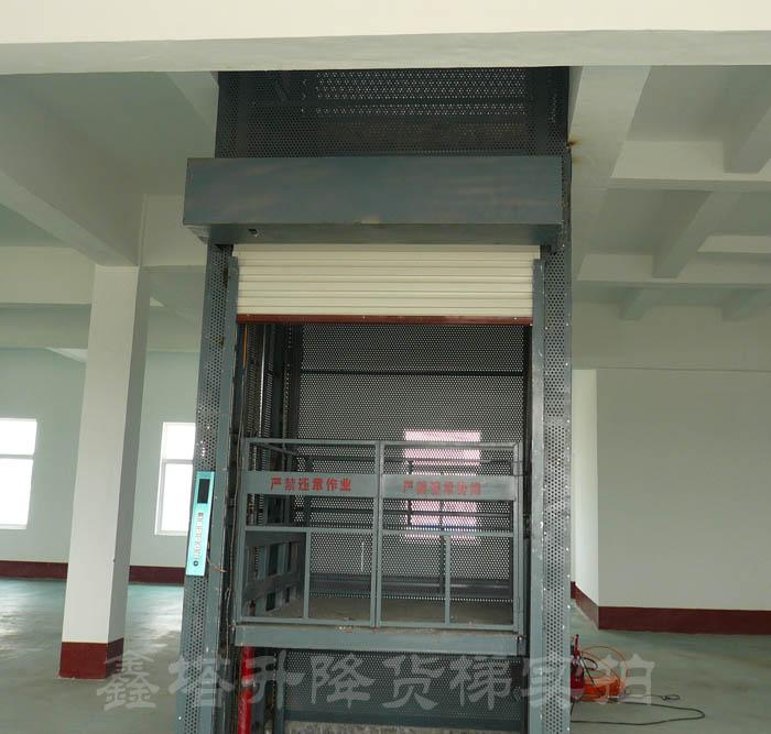 带护网 卷帘门 数显控制的液压货梯