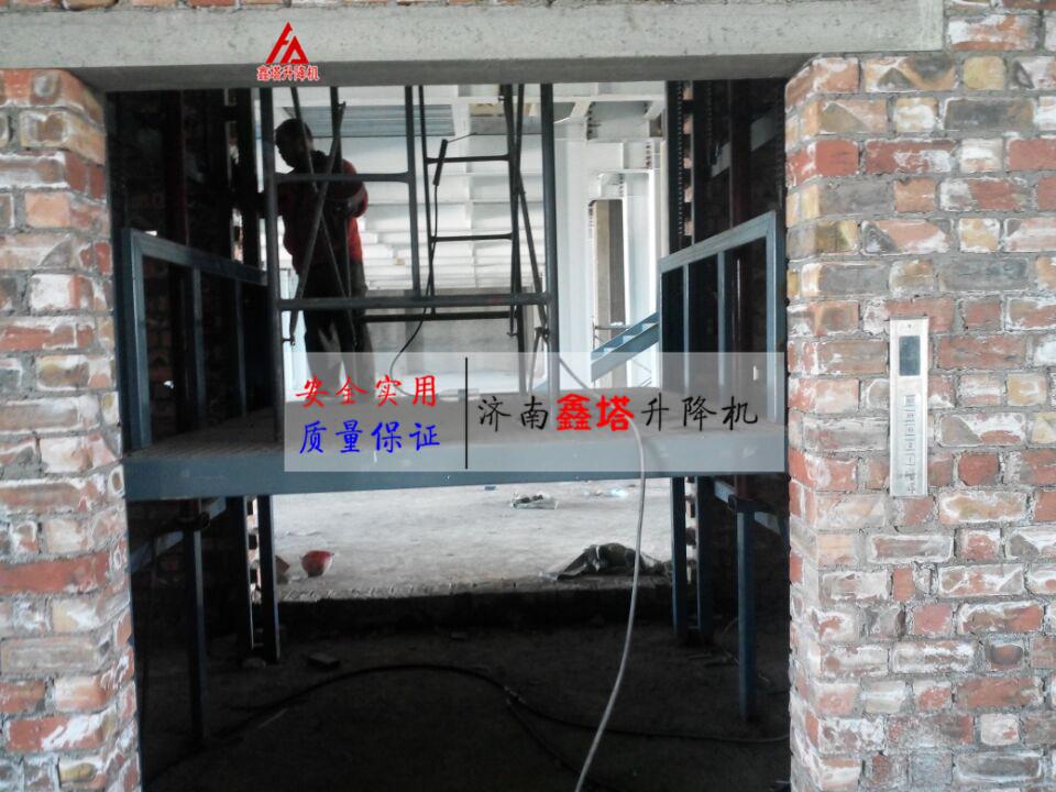 液压载货电梯采用低噪声型螺杆泵,泵站与电机设计成潜油式结构,能大